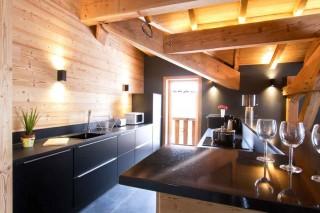 Alpe d'Huez Location Chalet Luxe Novableu Cuisine