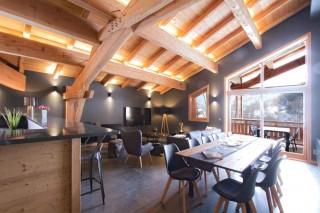 Alpe d'Huez Location Chalet Luxe Novableu Salle à Manger