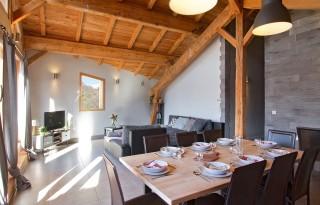 Alpe d'Huez Location Chalet Luxe Siraph Salle à Manger