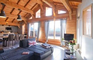 Alpe d'Huez Location Chalet Luxe Siraph Séjour 1