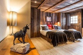Chamonix Location Chalet Luxe Acrusite Chambre Twin 1