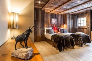 Chamonix Location Chalet Luxe Acrusite Chambre Twin 1