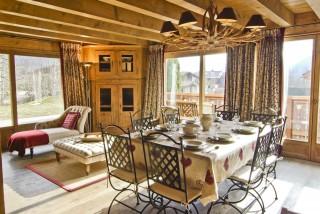 Chamonix Location Chalet Luxe Collinsite Salle A Manger