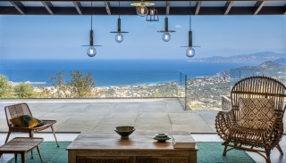 Ile Rousse Location Villa Luxe Iolite Salon Vue Mer