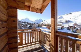 Les Deux Alpes Location Chalet Luxe Princess Blue Balcon