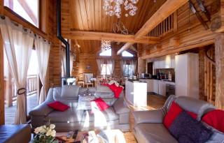 Les Deux Alpes Location Chalet Luxe Princess Blue Séjour