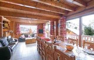 Les Deux Alpes Location Chalet Luxe Water Sapphire Salle à Manger