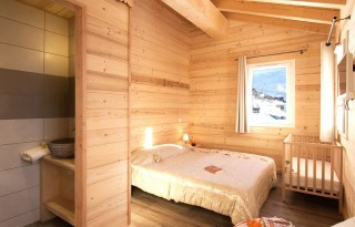 Les Menuires Location Chalet Luxe Mizzanite Chambre
