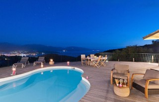Propriano Location Villa Luxe Quilary Piscine Nuit