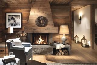 Val D'Isère Location Appartement Dans Résidence Luxe Elina Cheminée