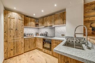 Val D'Isère Location Appartement Dans Résidence Luxe Elina Cuisine
