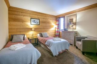 Val d'Isère Location Appartement Luxe Vatalis Chambre
