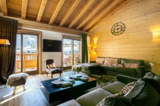 Val d'Isère Location Appartement Luxe Vatelis Séjour