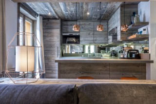 Val d'Isère Location Appartement Luxe Vatilis Cuisine