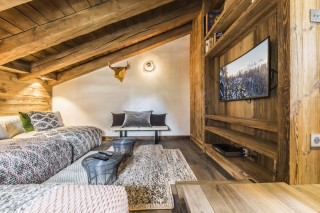 Val d'Isère Location Chalet Luxe Volga Coin TV