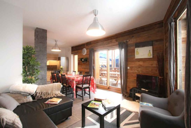 Alpe d'Huez Luxury Rental Chalet Abenekite Living Room