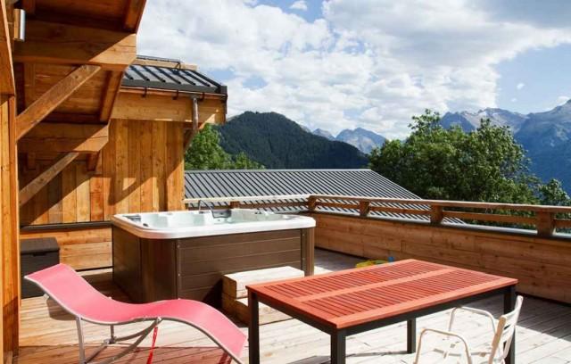 Alpe d'Huez Location Chalet Luxe Novableu Terrasse