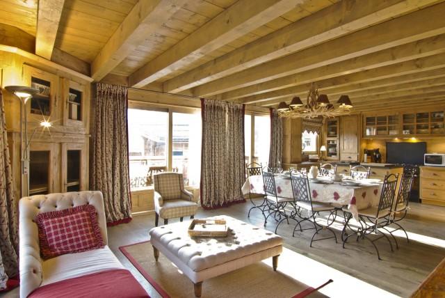 Chamonix Luxury Rental Chalet Collinsite Living Area