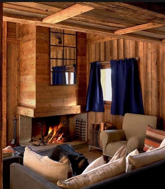 Chamonix Luxury Rental Chalet Couruse Living Room