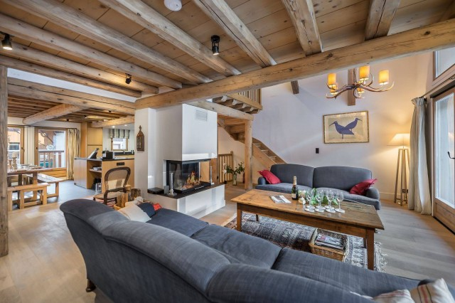 Courchevel 1300 Luxury Rental Chalet Nibate Living Room
