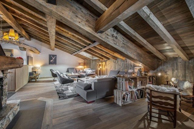 Courchevel 1300 Luxury Rental Chalet Noubate Living Room