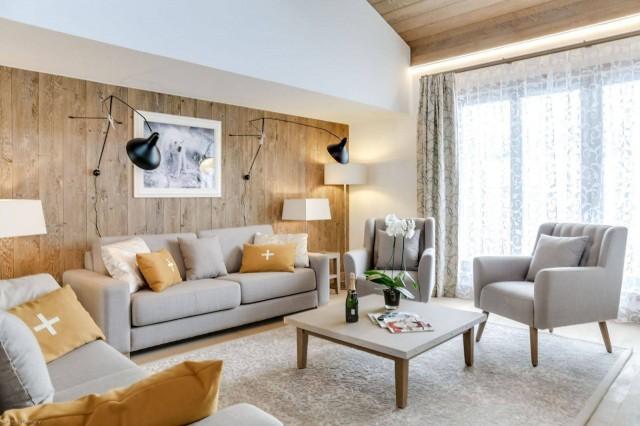 Courchevel 1550 Location Appartement Luxe Telukia Séjour