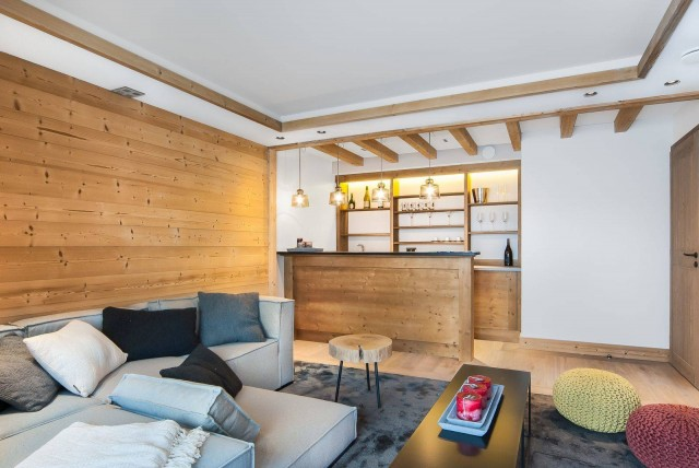 Courchevel 1550 Luxury Rental Chalet Niuron Living Room