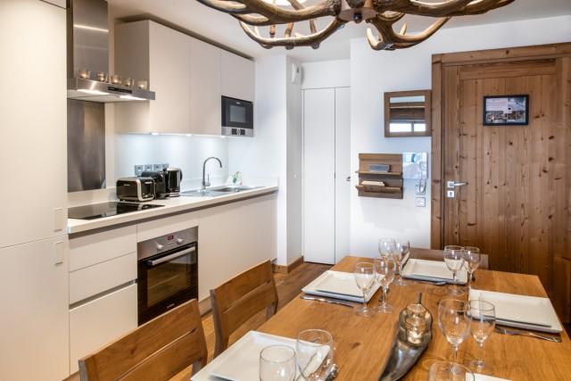 Courchevel 1650 Location Appartement Luxe Aleksite Cuisine