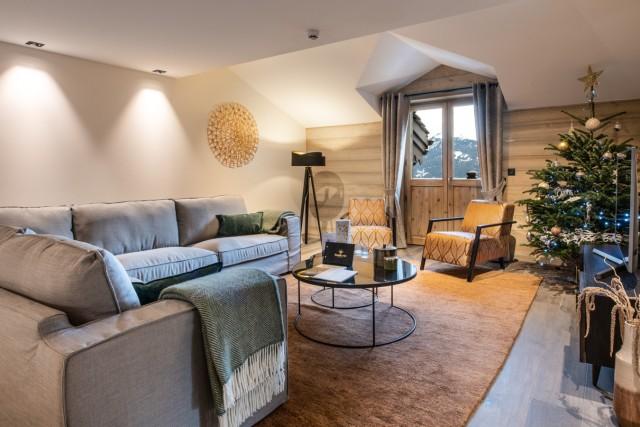 Courchevel 1650 Luxury Rental Appartment Auralite Living Room