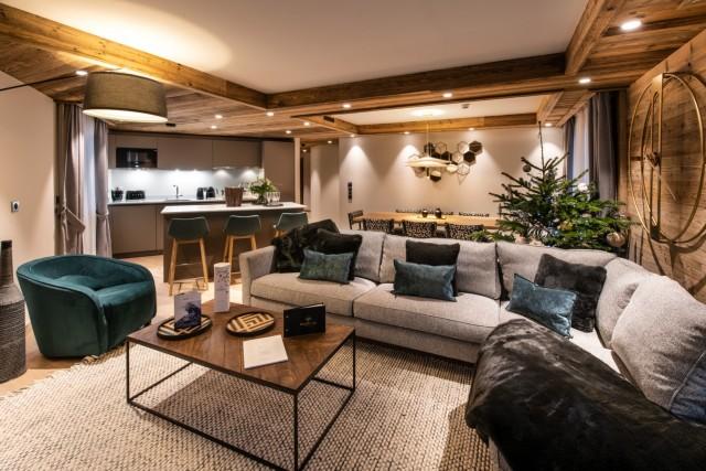 Courchevel 1650 Luxury Rental Appartment Aurilite Living Room