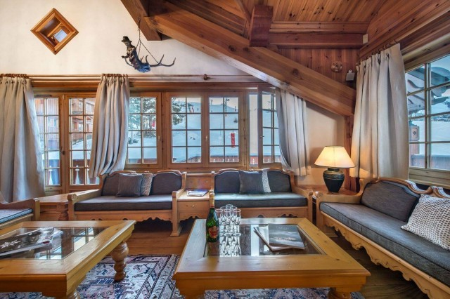 Courchevel 1650 Luxury Rental Chalet Neziluvite Living Room