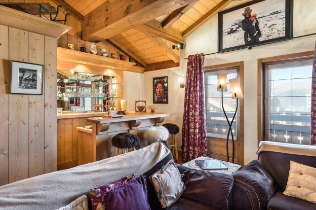 Courchevel 1850 Luxury Rental Appartment Cetanite Living Room