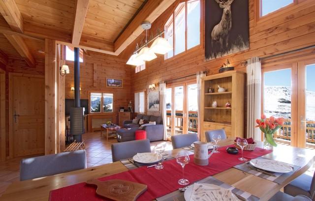 Les Deux Alpes Location Chalet Luxe Wallisite Salle à Manger
