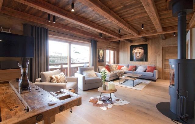 Les Deux Alpes Luxury Rental Chalet Wallomia Living Room