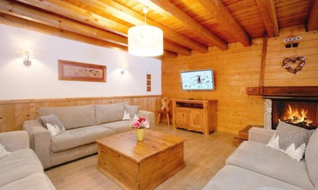 Les Deux Alpes Location Chalet Luxe White Garnet Salon