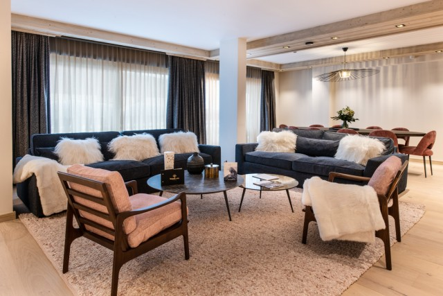 Les Gets Luxury Rental Appartment Andame Living Room
