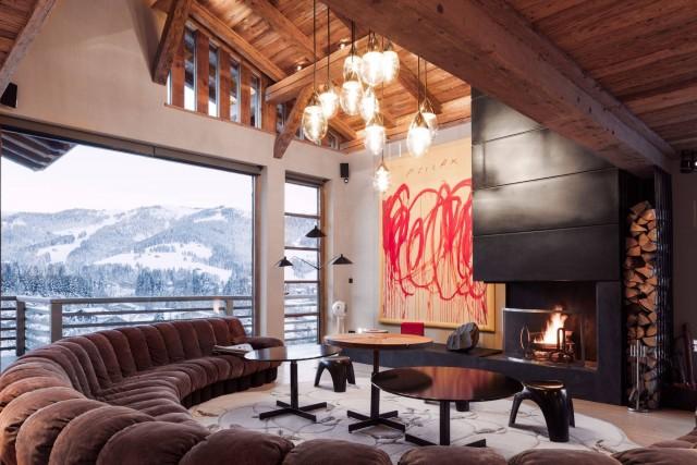 Megève Luxury Rental Chalet Cajuella Living Area