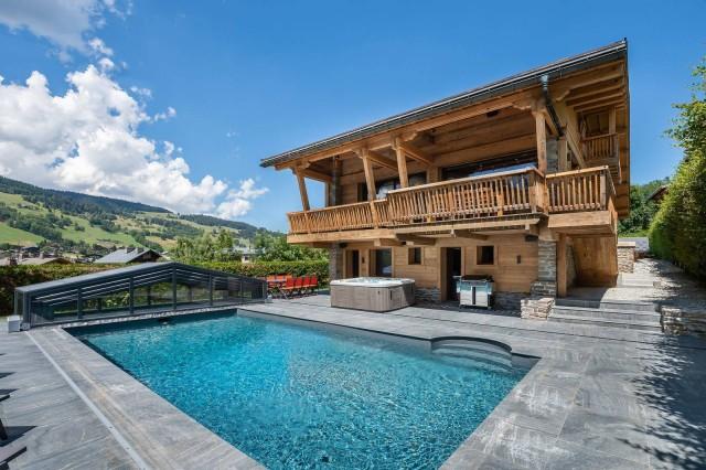 Megève Luxury Rental Chalet Taxozite Swimming Pool