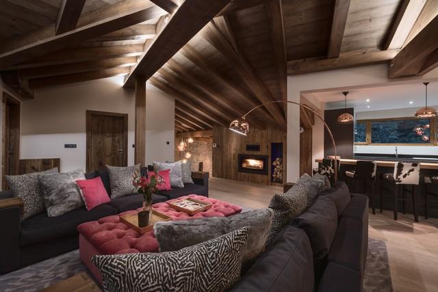 Morzine Luxury Rental Chalet Merlinite Living Room