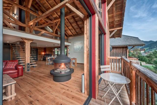 Morzine Luxury Rental Chalet Merliu Living Room