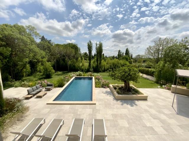 Saint Rémy De Provence Location Villa Luxe Murcasite Piscine