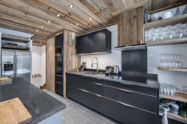 Val d'Isère Luxury Rental Appartment Ulilite Kitchen