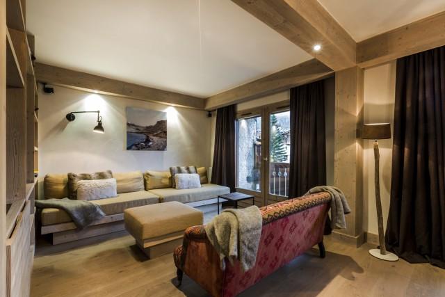 Val d'Isère Location Appartement Luxe Vadakite Séjour