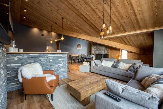 Val d'Isère Luxury Rental Appartment Valerine Living Area