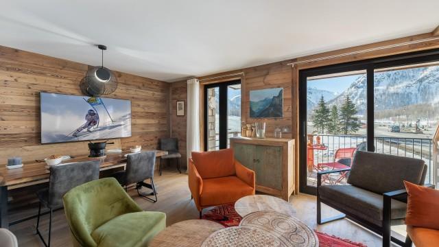 Val d'Isère Location Appartement Luxe Varmate Séjour