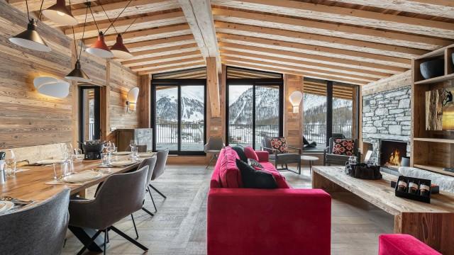 Val d'Isère Location Appartement Luxe Varvate Séjour