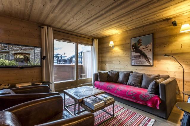 Val d'Isère Luxury Rental Apartment Vaselite Living Area