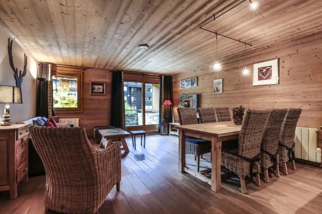Val d'Isère Luxury Rental Apartment Vaselote Living Area