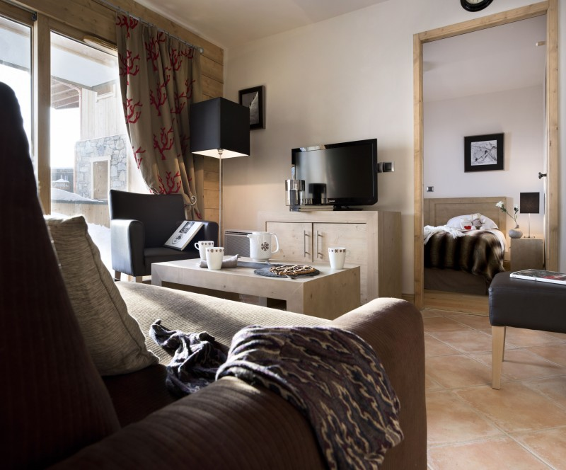 Alpe d'Huez  Location Appartement Luxe Acroate Salon