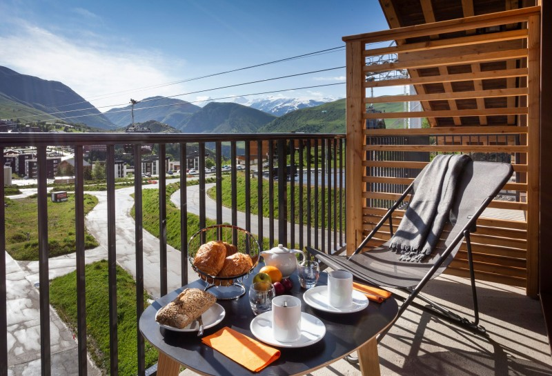 Alpe D'Huez Location Appartement Luxe Amara Balcon